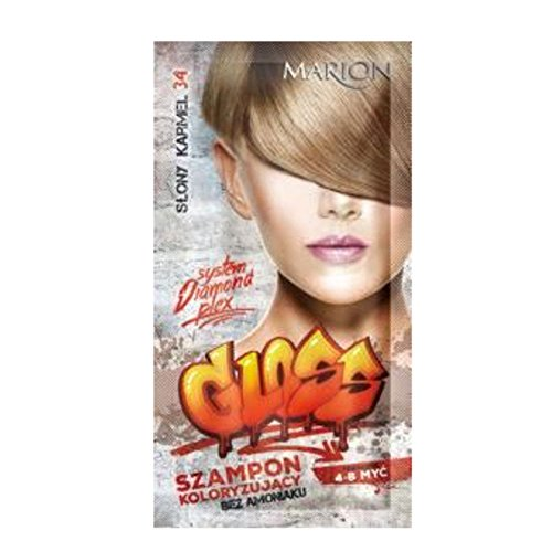 Marion Gloss Hair Color Shampoo in Sachet Lasting 4 to 8 Washes Ammonia FREE 34 Salty Caramel