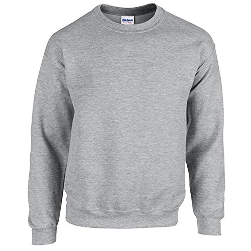 Gildan Heavy Blend Erwachsenen Crewneck Sweatshirt 18000 XXL, Sport Grey (Crewneck Blend Pullover)