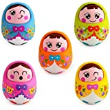 Huile Toys Push and Shake Wobbling Doll (Sweet Bell Sounds)