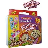 Box mit 50 Kunterbunten Kinderpflaster Klinikpackung Pflaster Kinder Wundpflaster Kunterbunt preisvergleich bei billige-tabletten.eu