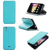 Wiko Rainbow UP 3G Tasche Leder Hülle türkis Cover mit