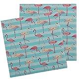 Bada Bing 2er Set Servietten Flamingo 40 Stück Türkis Blau Tropical Sommer 43