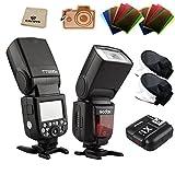 Godox Thinklite TTL HSS TT685S Camera Flash High Speed 1/8000s GN60 for Sony DSLR Cameras a77II a7RII a7R a58 a99 ILCE6000L, with X1T-S TTL Transmitter (2*TT685S+X1T-S)