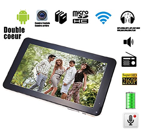 "G-Anica Tablette tactile 9"" - Android 4.4.2, Dual Core, (1024 x 600HD, Double caméra, Bluetooth, Wi-Fi, 8 Go, 512Mo RAM, jeux 3D pris en charge)-Noir"