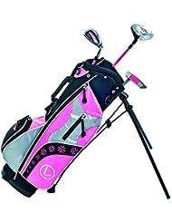 Longridge Junior Challenger Cadet Set - Juego de accesorios para golf (4 palos, de 3 a 5 años), color rosa, negro y plateado