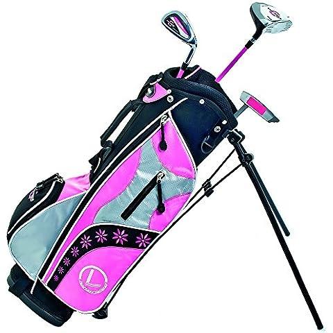Longridge Junior Challenger Cadet Set - Juego de accesorios para golf (4 palos, de 3 a 5 años), color rosa, negro y
