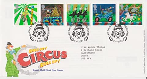 2002 Circus First Day Cover.