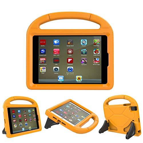 iPad 9,7Schutzhülle, iPad 9,7Cover für Kids-threej leicht Gewicht tragbar stoßfest Super Schutz Griff Stand Cover für iPad 9,72018/2017 iPad 9.7-inch Orange -