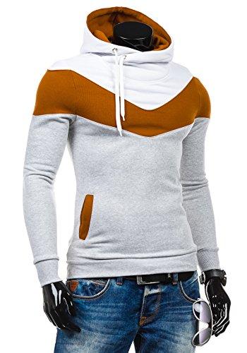 BOLF – Sweat-shirt à capuche – Pull de sport - STX RALPH – Homme Gris