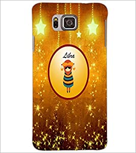 PrintDhaba Zodiac Libra D-3687 Back Case Cover for SAMSUNG GALAXY ALPHA (Multi-Coloured)