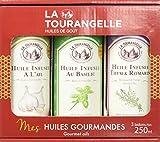 La tourangelle Trio Huiles Infusées Basilic/Ail/Thym/Romarin 750 ml