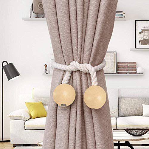 Home & Garden Friendly Durable Solid Color Curtains Tieback Strap Buckle Holder Hand Weaving Cotton Linen Rope Curtain Tieback Rope Accessories