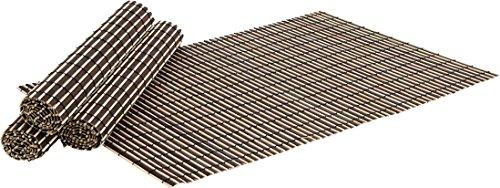 Juego 4 manteles Individuales Mesa bambú Negro