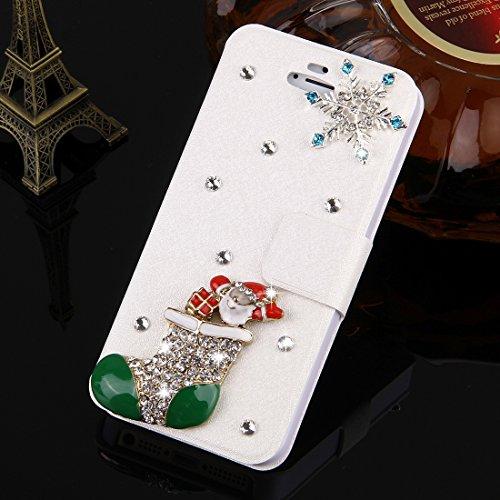 SKKMA Case Cover Fevelove pour iPhone SE & 5s et 5 diamants Encrusted Sunflower Pearl Bell Pattern Horizontal Housse en cuir Flip avec fente magnétique et fentes de carte ( SKU : IP5G1033B ) IP5G1033J