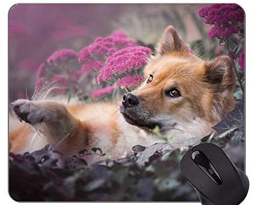 Mousemat Mauspads, Pet Snow Dog - Genähte Kanten.