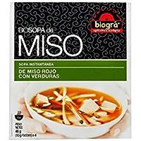 ijsalut - sopa miso rojo verduras bio biogra 4 sobres