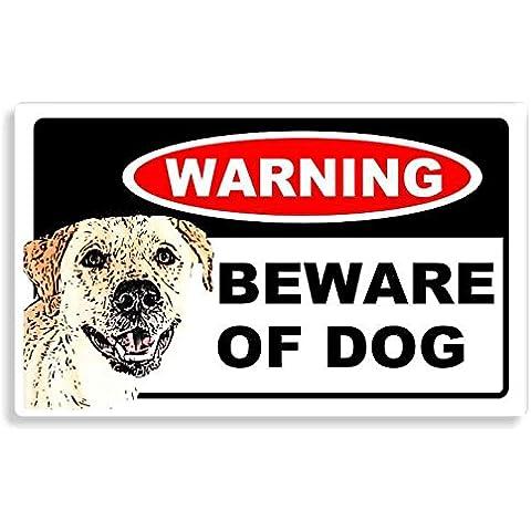 Labrador Retriever Dog - Beware Sticker - Cane Auto Adesivi / Porta Di Casa / Home Door / Car Sign