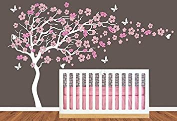 Decalshut Nursery Cherry Blossom Flower Tree Wall Decal Stickers Baby Room  Decor (cherry Butterfly) Part 84
