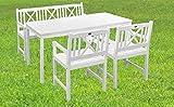 Sedex 4. TLG Gartenset Aalborg/Sitzgruppe / Gartengruppe/Eukalyptus - weiß
