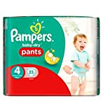 Pampers Baby-Dry Hose Größe 4 Carry Paket 23 Windeln - Packung mit 2
