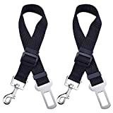 Dog Seat Belt, Mudder Dog Cat Car Safety Seat Belt Harness Adjustable Leads Harness for Cars Vehicle, 2 Pack