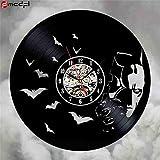 Accueil Living Batman Disque vinyle Record noir CD Horloge murale Horloge le film...