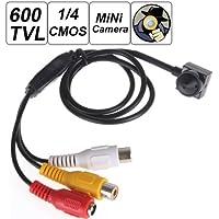 BW® mini 600TVL 1/4inch HD sensore 500Mega Pixel più piccolo cono Pinhole Mini telecamera nascosta Spy Video Camera con 3,7mm Camera Lens TV standard