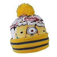 Minions - Cappello Berretto Invernale con Pon Pon - Undercover - Bambino -  Prodotto Ufficiale HO4573  Giallo - 54 cm  7134b5c13c56