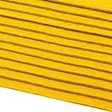 12 Filzplatten Bastelfilz Filz gelb 2-3 mm dick DIN A4 20x30 cm
