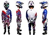 JLP Racing JLP Racing - Traje Infantil de 7 a 8 años, Talla 24, Color Azul, Blanco y Rojo