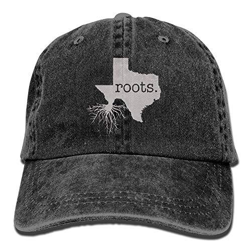 deyhfef Men Women Home Roots State Texas Denim Jeanet Baseball Hut Adjustable Hip Hop Kappen Unisex44