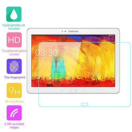 Fenrad® esclusivo alta qualità in vetro temperato pellicola protettiva schermo di protezione per samsung galaxy note 10.1 2014 edition p600 (il panno in microfibra incluso)