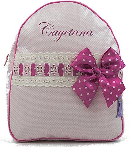 bordaymas-zaino-per-bambini-personalizzata-con-il-nome-in-plastica-rosa-e-pasacintas-beige-e-magenta