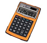 Citizen 7238043 Outdoor 3000 Calculatrice de bureau étanche à énergie solaire et à piles avec 3 boutons Bleu 12 chiffres