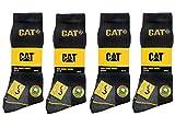 CAT Caterpillar 12 Paar Arbeitssocken, Schwarz - MEGA-Größenauswahl für optimale Größenwahl - 35-40 | 39-42| 41-45 | 43-46 | 46-50 (43-46)