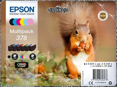 Epson Original 378 Tinte Eichhörnchen (XP-8500 XP-8600 XP-8605, Amazon Dash Replenishment-fähig) Multipack, 6-farbig -