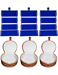 Afrose Combo 3 Pc Blue Ear Ring Folder And 3 Pc Bangle Box