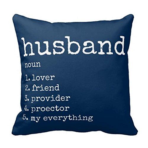 Wählen Sie Ihre Farbe Blau Definition Ehemann Kissen Fall 18* 18, Cc-01, 18*18 -