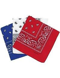PURECITY© Bandana Original Paisley Motif Cachemire Foulard Pur Coton Qualité Supérieure Vendu par Lot - 55cm x 55 cm - Nouvelle Collection