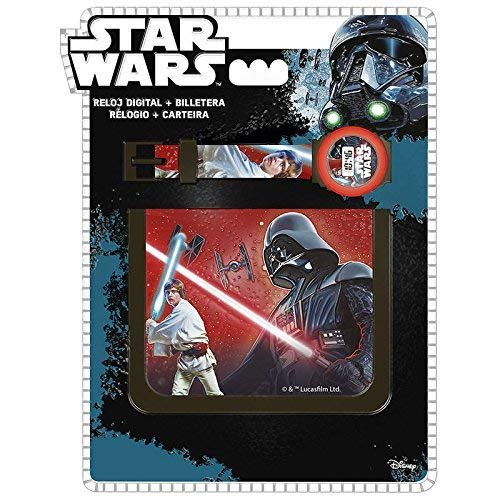 Disney Star Wars Set Montre Digital avec Porte Feuille, SW92276