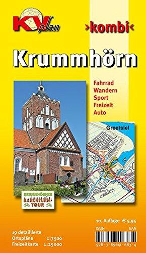Preisvergleich Produktbild Krummhörn & Greetsiel: 19 Ortspläne der Gemeinde Krummhörn in 1:7.500 und Freitzeitkarte 1:25.000 inkl. Radrouten und Wanderwegen (KVplan Ostfriesland-Region)