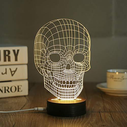 3D Nachtlichter Helles Weißes Licht Atemberaubende Stereoskopische Nachtlicht Beängstigend Maske Geschenk Licht Schlaf Nachtlicht Schlafzimmer Lampe Atmosphäre Licht Nachttischlampe Dekoration
