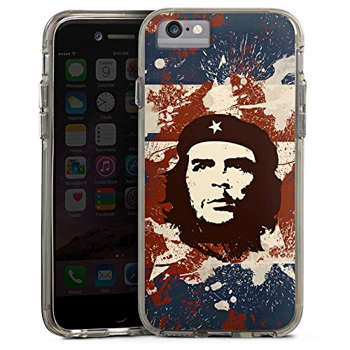 Apple iPhone 6 Bumper Hülle Bumper Case Glitzer Hülle Che Guevara Revolution Freiheit Bumper Case transparent grau