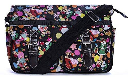 Big Handbag Shop - Sacchetto unisex Messenger 612 - Winter Scene