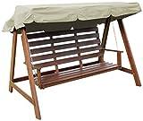 Woodside - Dachbezug für 2- & 3-Sitzer-Gartenschaukel - ideal als Ersatzdach - cremefarben - 2-Sitzer