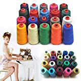 Generic Light purple : DIY 3000M Yards Overlocking Sewing Machine Industrial Polyester Good Quality Thread Metre Cones #45317