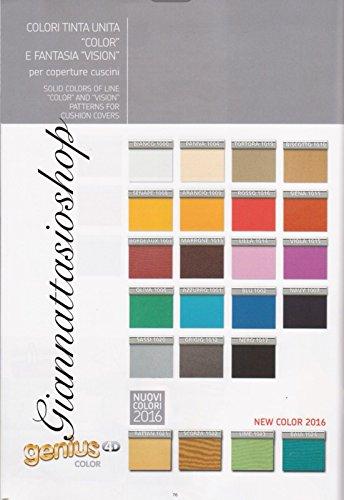 Biancaluna genius 4d copridivano 2 posti per divani da 140 a 180cm - colori tinta unita color da comunicare