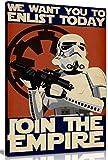 Bild/Druck auf Leinwand mit Motiv von Star Wars (Krieg der Sterne), Propaganda Enlist Join The Empire, Wandkunst, A1 76x51 cm (30x20in)
