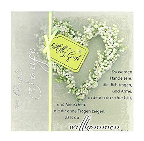 Depesche 4907.054Tarjeta de felicitación Emotions en diseño Elegante, Bautizo, Multicolor