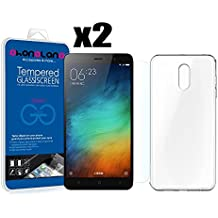PACK AHORRO - Funda Silicona + 2 Protector de pantalla Cristal templado Premium para Xiaomi Redmi Note 4